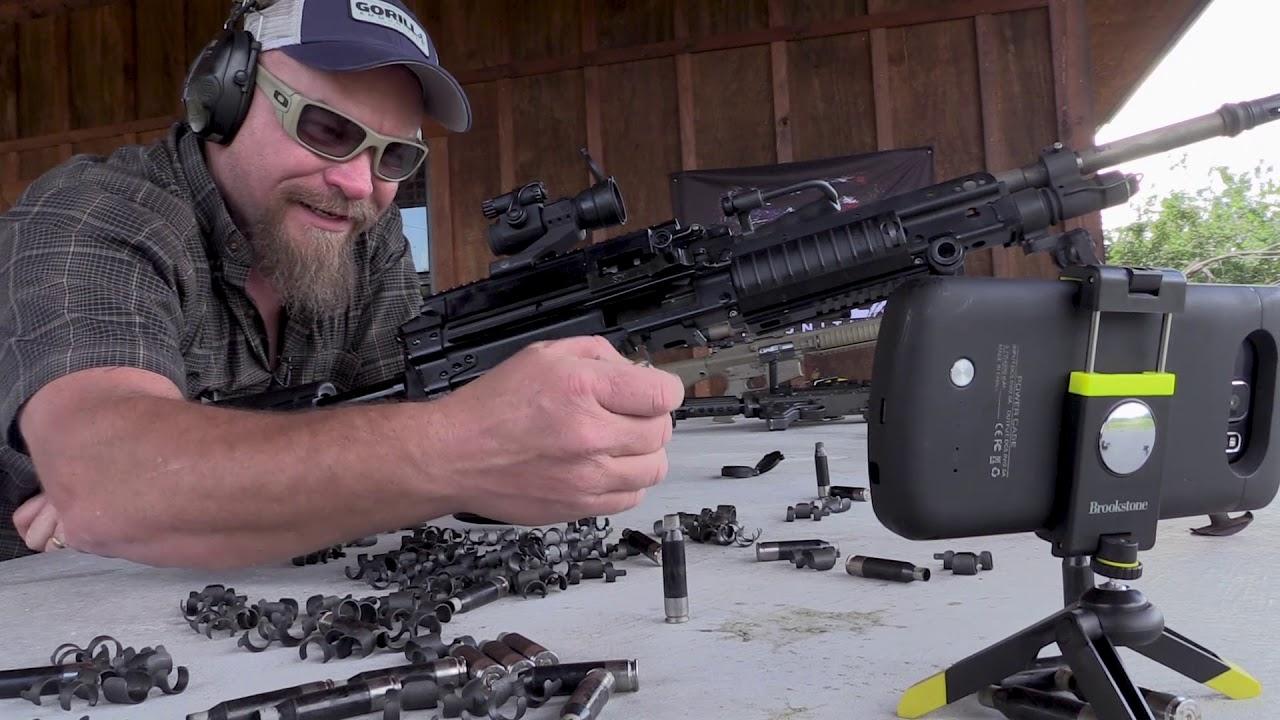 Shooting Machine Guns at Gorilla Ammo